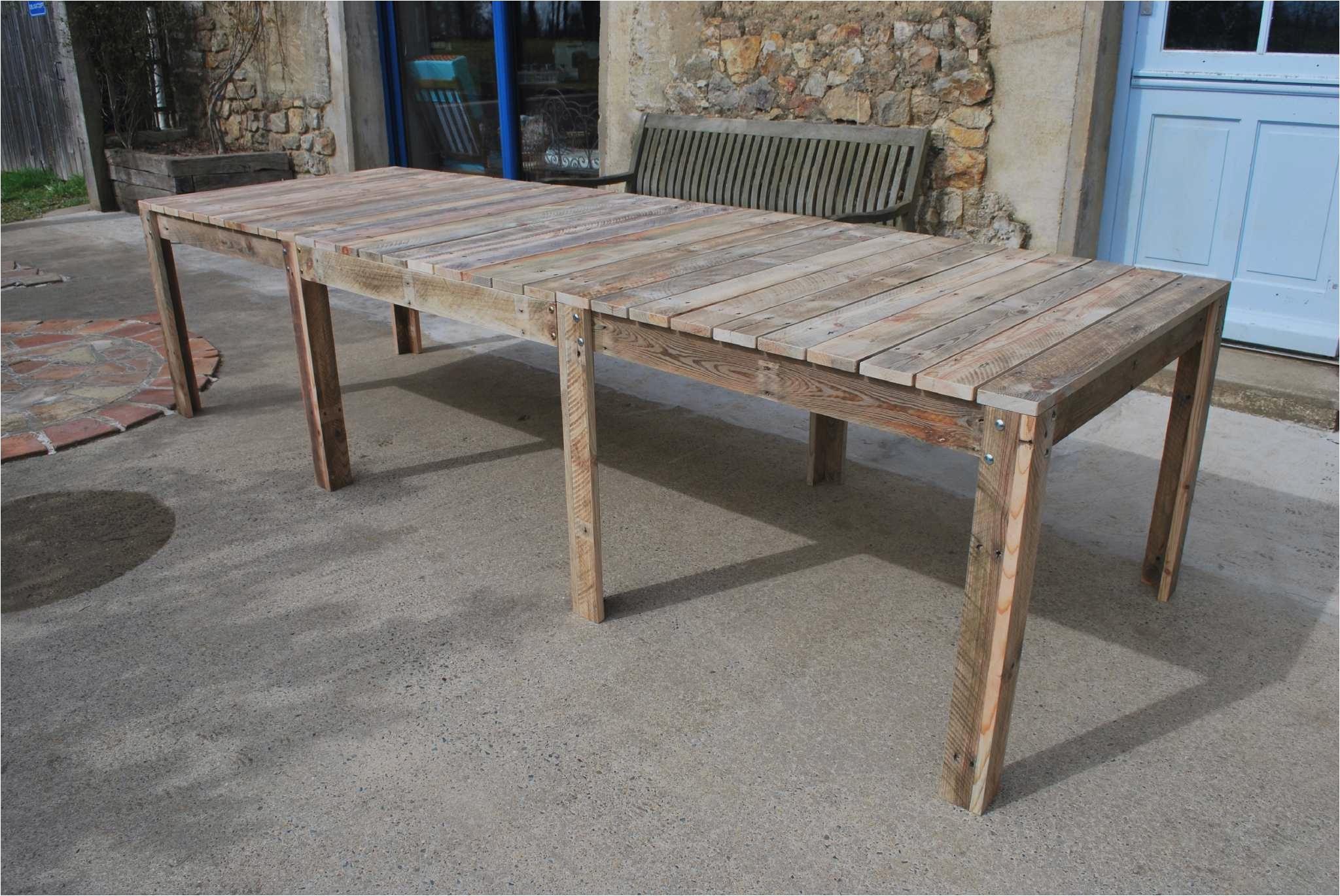 Fabriquer Table De Jardin Schème - Idees Conception Jardin avec Plan Pour Fabriquer Une Table De Jardin En Bois