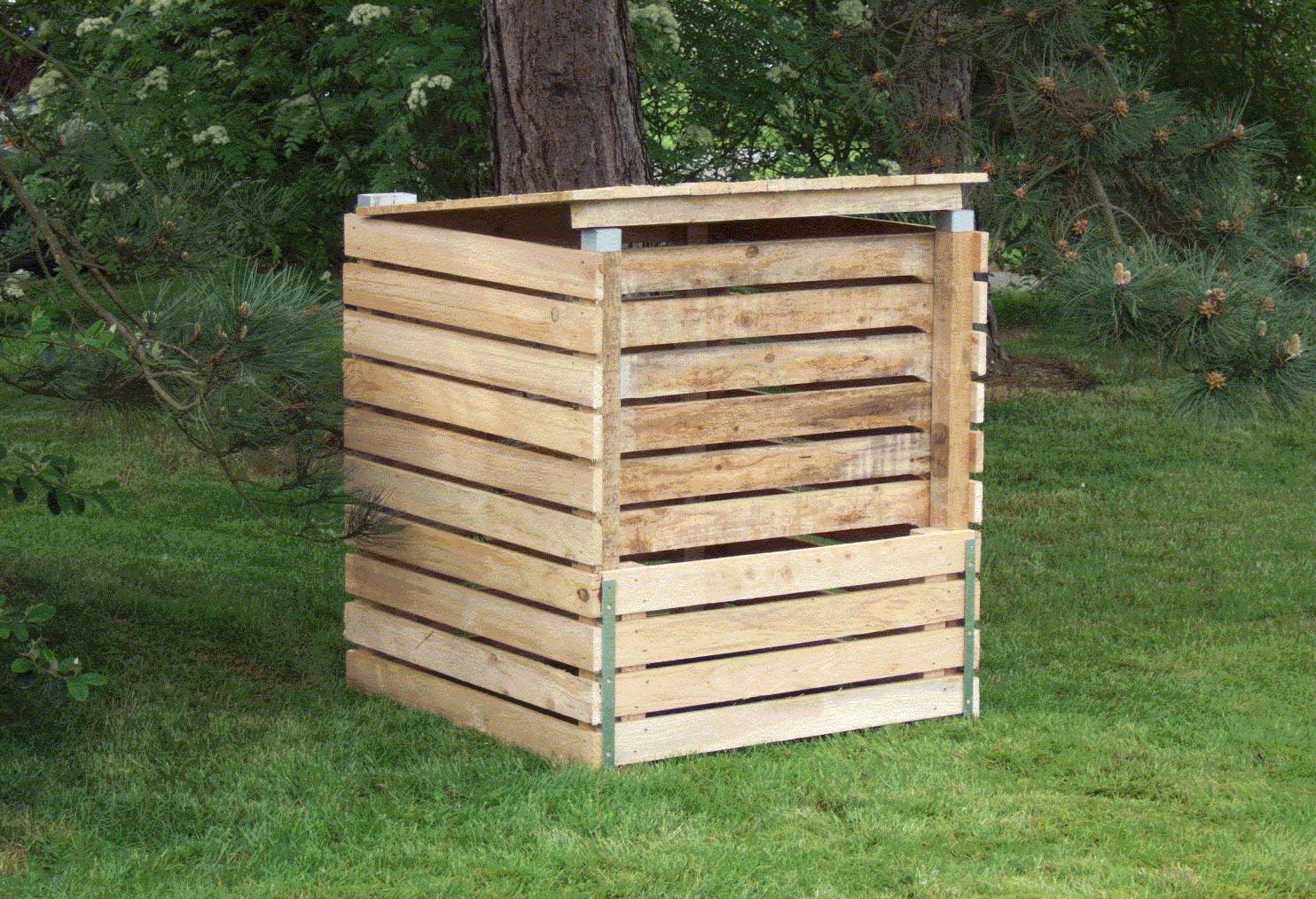 Fabriquer Un Composteur De 300 Litres - Achat Grelinette De ... concernant Composteur De Jardin