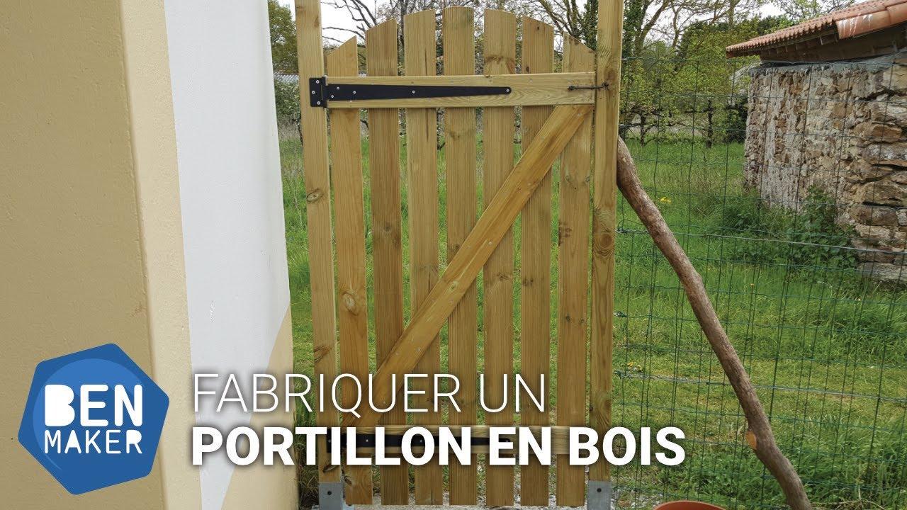 Fabriquer Un Portillon En Bois | Diy | Benmaker serapportantà Portillon De Jardin En Bois