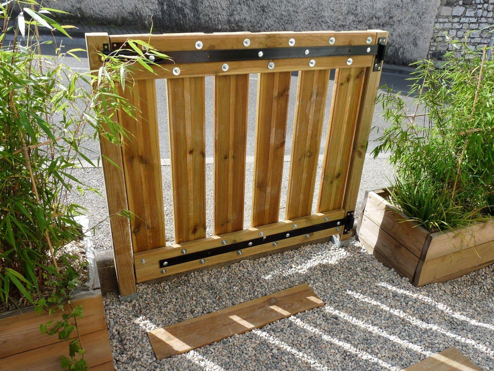 Fabriquer Un Portillon En Bois   Portillon Bois, Portillon ... serapportantà Porte Bois Exterieur Jardin