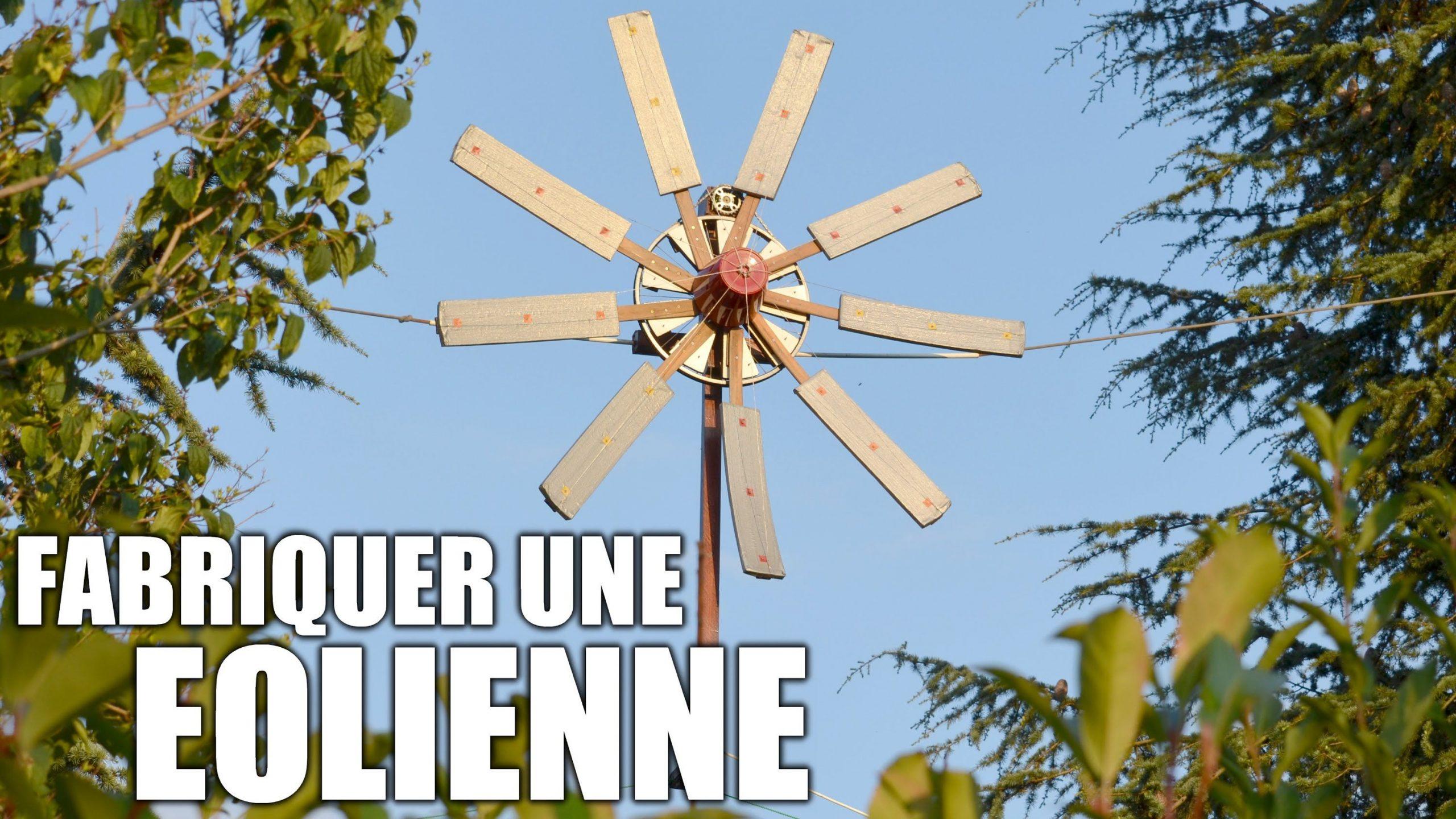 Fabriquer Une Éolienne : Incroyables Expériences [85 ... tout Eolienne De Jardin