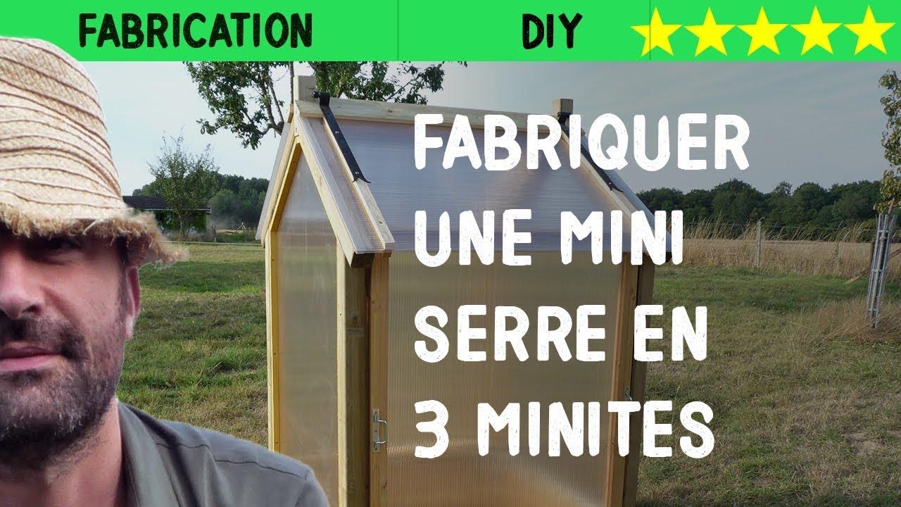 Fabriquer Une Mini Serre En 3Min pour Fabriquer Une Serre De Jardin Pas Cher