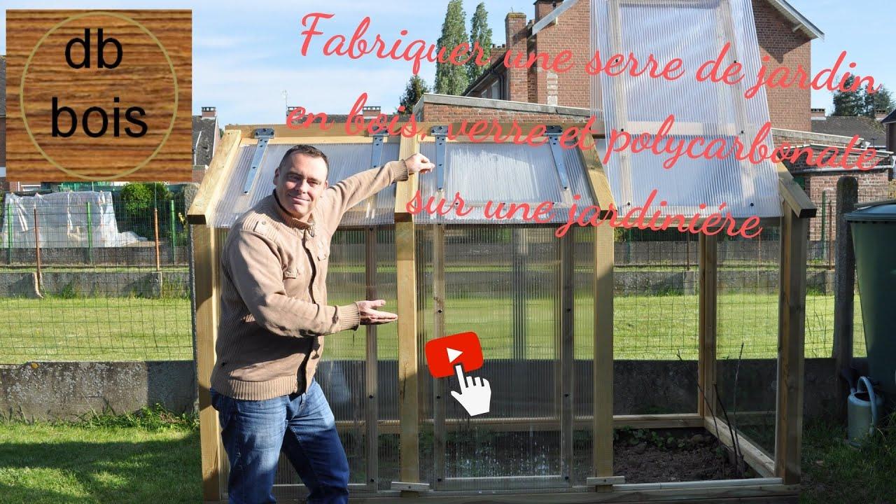 Fabriquer Une Serre De Jardin En Bois, Verre Et Polycarbonate pour Fabriquer Serre De Jardin Polycarbonate