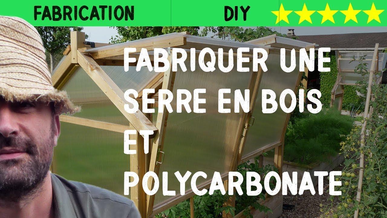 Fabriquer Une Serre En Bois Et Polycarbonate destiné Construction D Une Serre De Jardin En Bois
