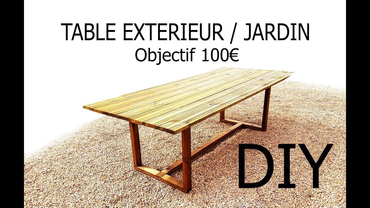 Fabriquer Une Table D'Extérieur/jardin Pour - De 100€ à Plan Pour Fabriquer Une Table De Jardin En Bois