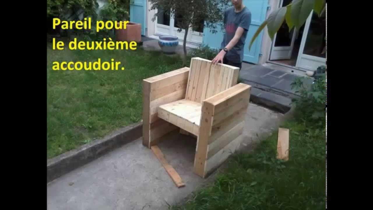 Facile : Fabriquer Votre Fauteuil De Jardin | Intérieur En ... concernant Fauteuil De Jardin En Bois De Palette