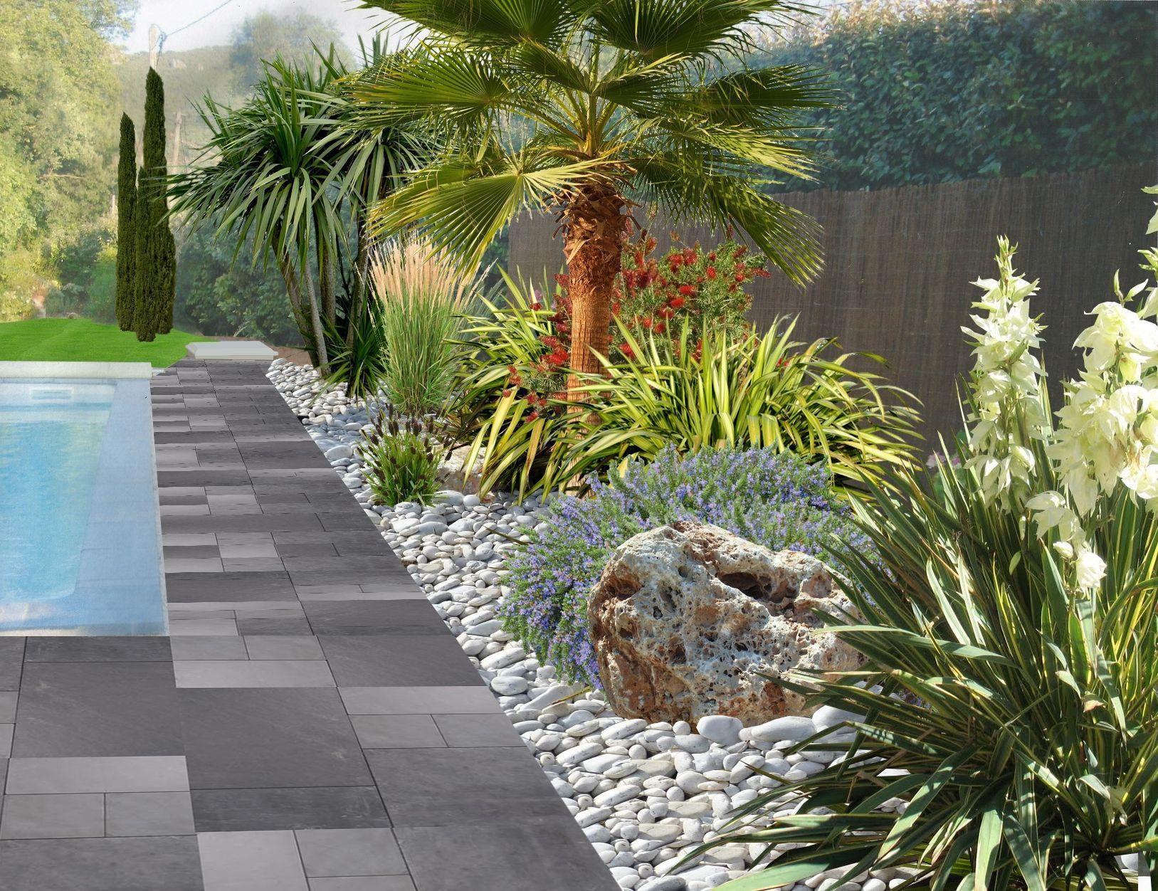 Faire Un Jardin Autour D'une Piscine, Planter Les Abords D ... à Exemple D Aménagement De Jardin