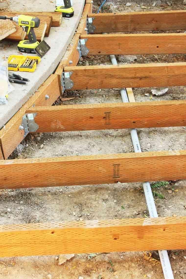 Faire Une Terrasse En Bois - Tuto Détaillé Pour Fabriquer L ... destiné Faire Un Plancher Pour Abri De Jardin