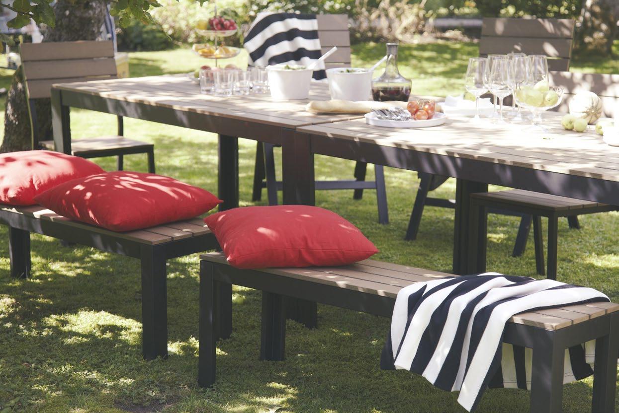 Falster, Meubles D'extérieur En Aluminium - Ikeaddict tout Table Jardin Plastique Ikea