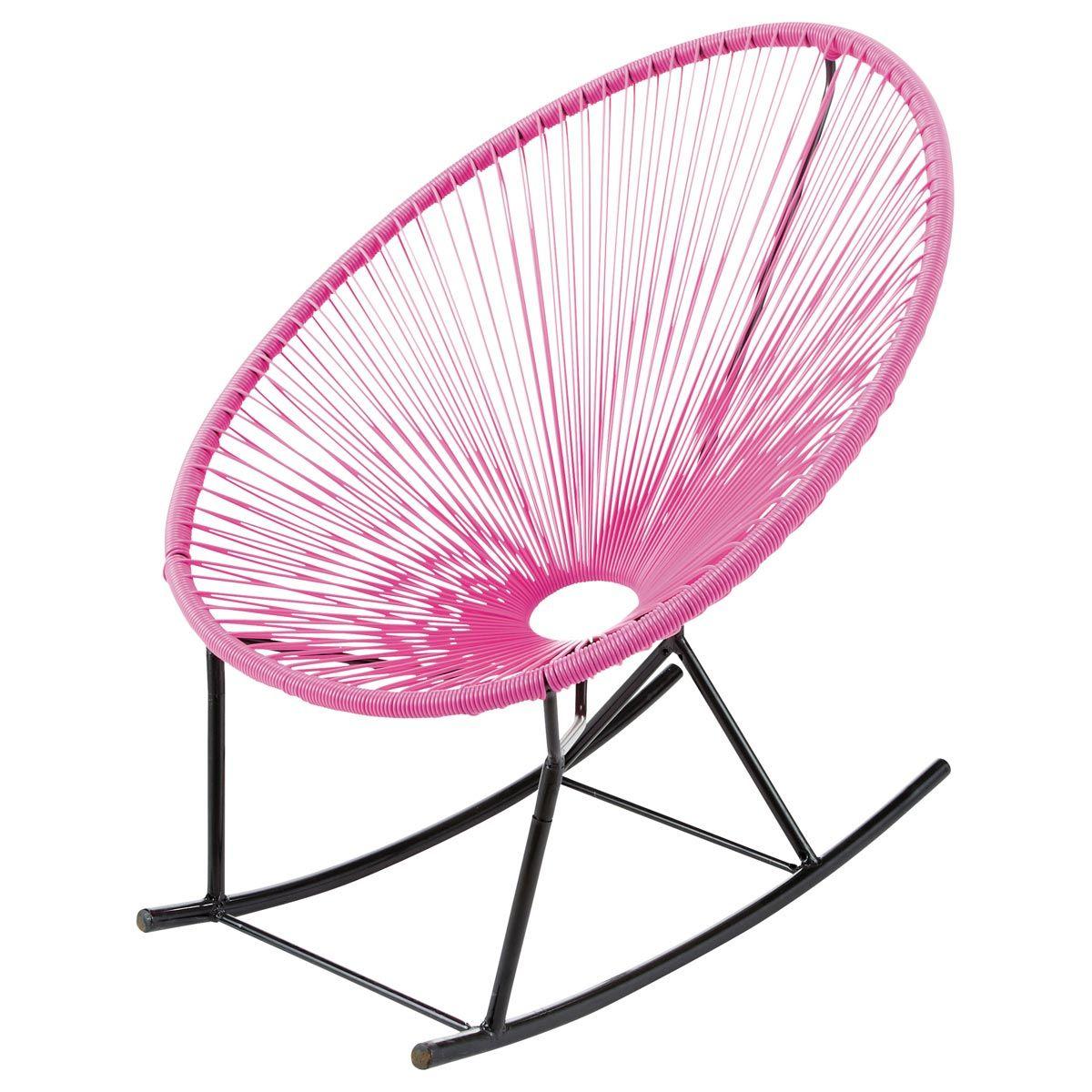 Fauteuil À Bascule De Jardin Rosebr /copacabana   Mexican ... serapportantà Rocking Chair Jardin