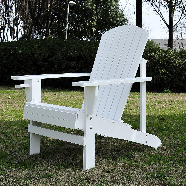 Fauteuil De Jardin Adirondack Chaise Longue Chaise Plage ... intérieur Fauteuil De Jardin En Bois Style Americain