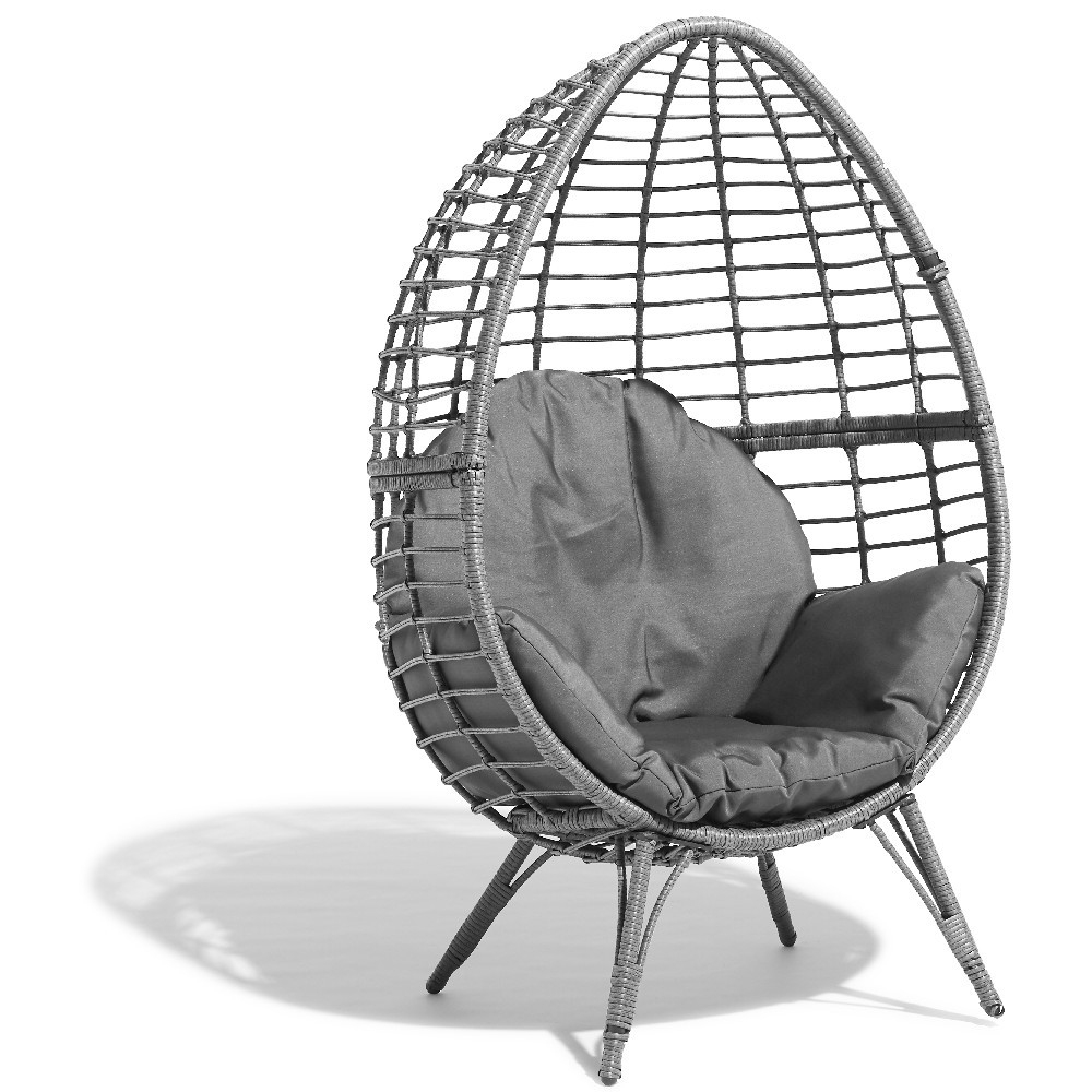 Fauteuil De Jardin Egg Gris Anthracite destiné Oeuf Suspendu Jardin