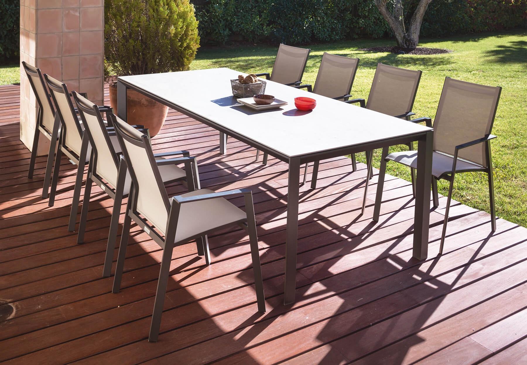 Fauteuil De Jardin En Aluminium Et Toile Triangle - Mood Design destiné Toile Jardin Triangle