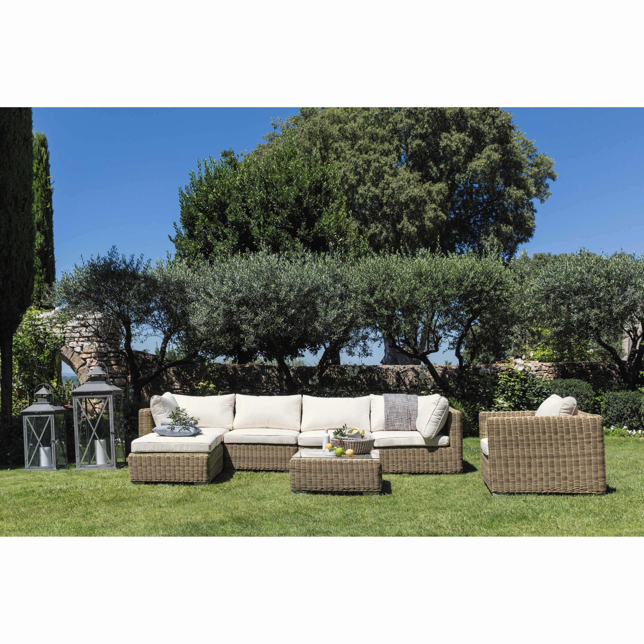 Fauteuil De Jardin En Résine Tressée | Terrasse | Agrément ... pour Salon De Jardin Maison Du Monde