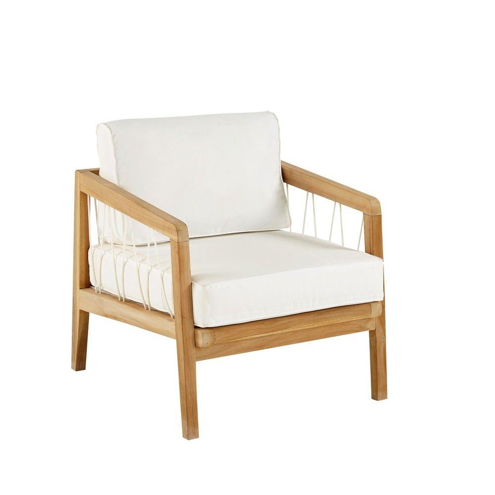 Fauteuil De Jardin En Teck Massif | Garden Chairs, Outdoor ... encequiconcerne Fauteuille De Jardin