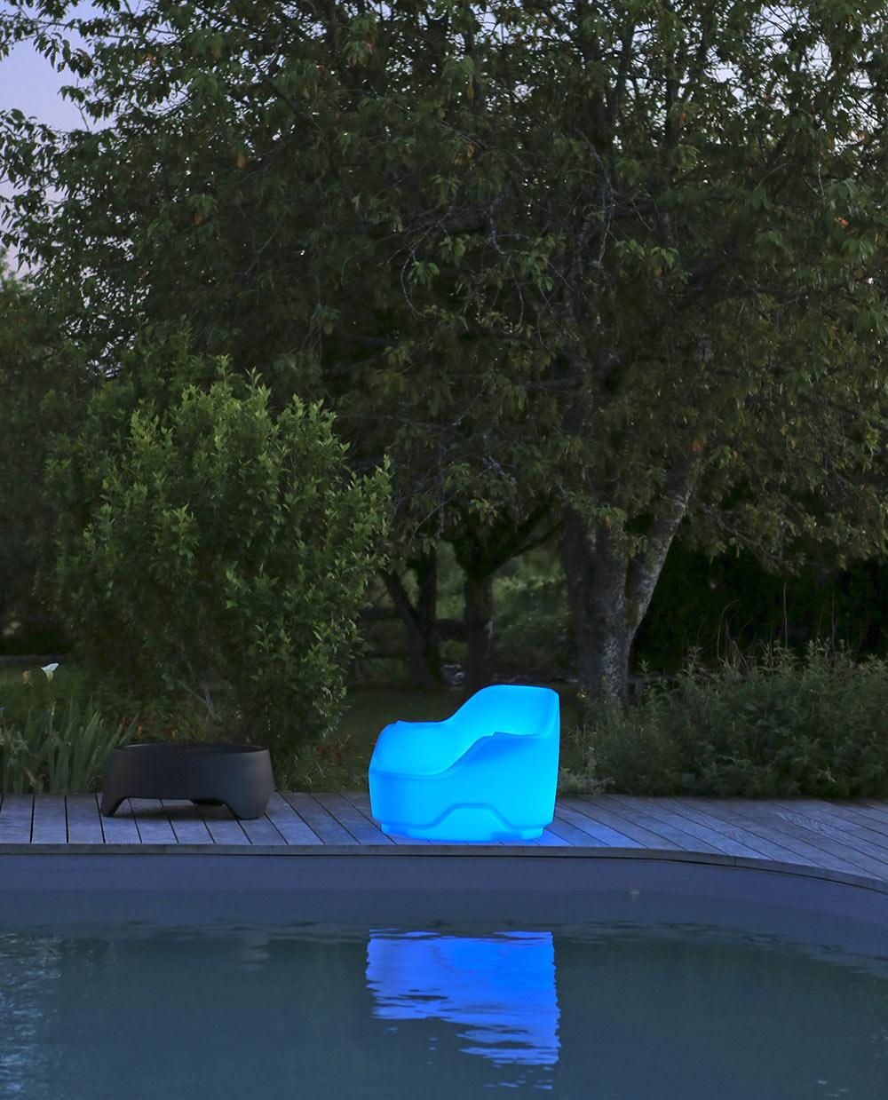 Fauteuil De Jardin Lumineux Moaïs - My Croisette intérieur Salon De Jardin Lumineux