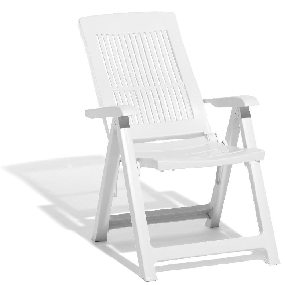 Fauteuil De Jardin Multipositions Blanc Viva avec Chaise De Jardin Blanche