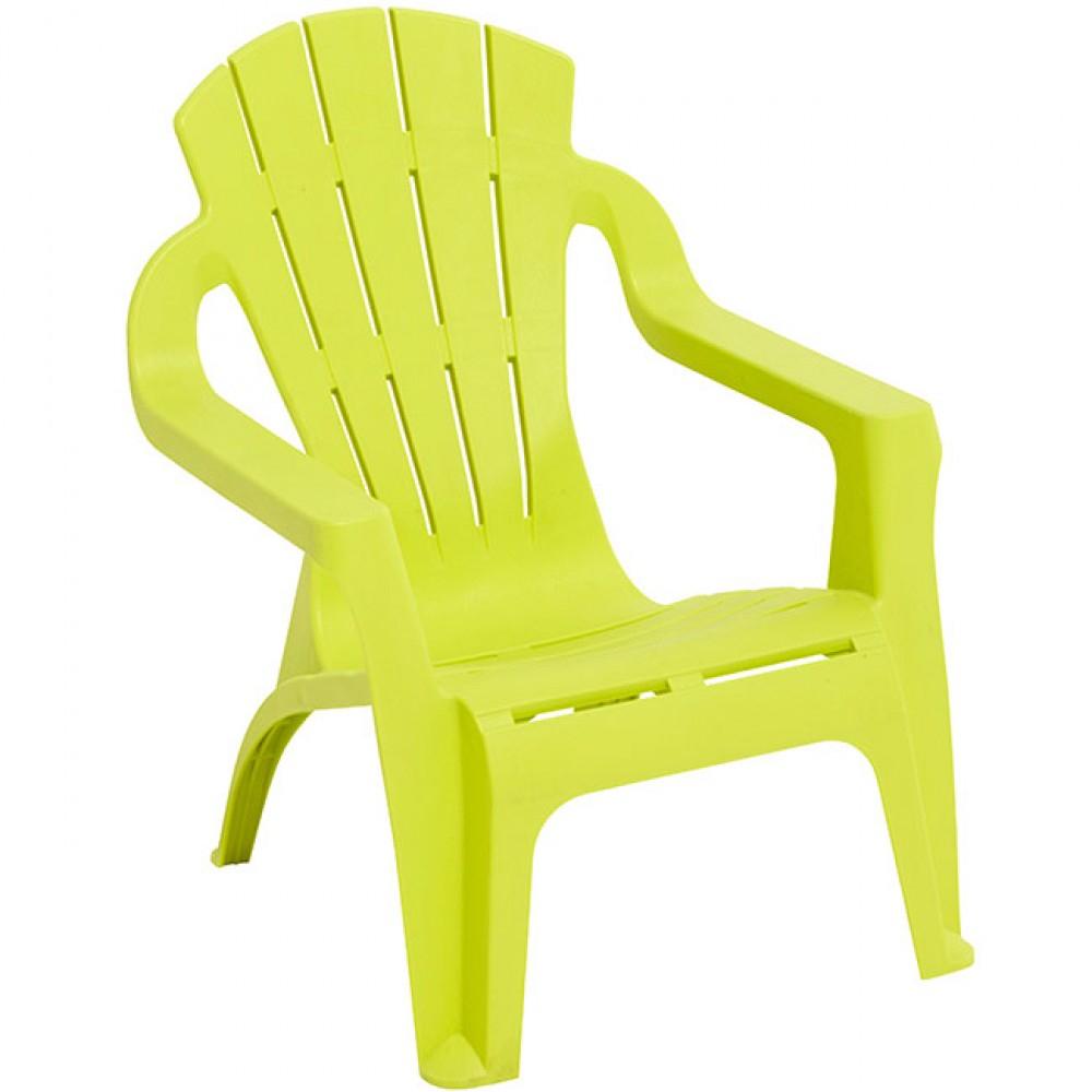 Fauteuil De Jardin Plastique Pour Enfant Vert Anis avec Table Et Chaise Jardin Enfant
