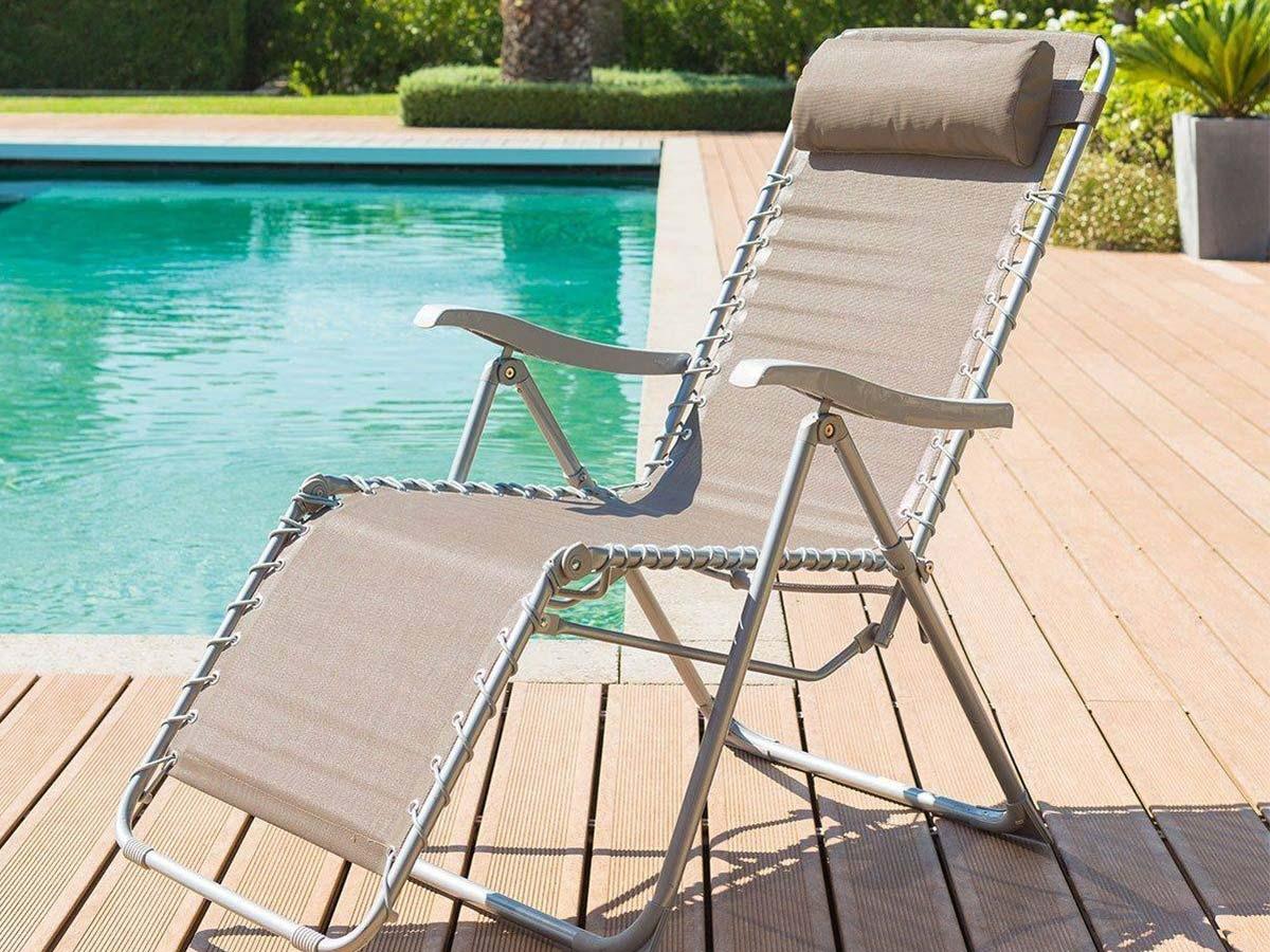 Fauteuil De Jardin Relax Silos Couleur Au Choix | Hespéride tout Chaise De Jardin Hesperide