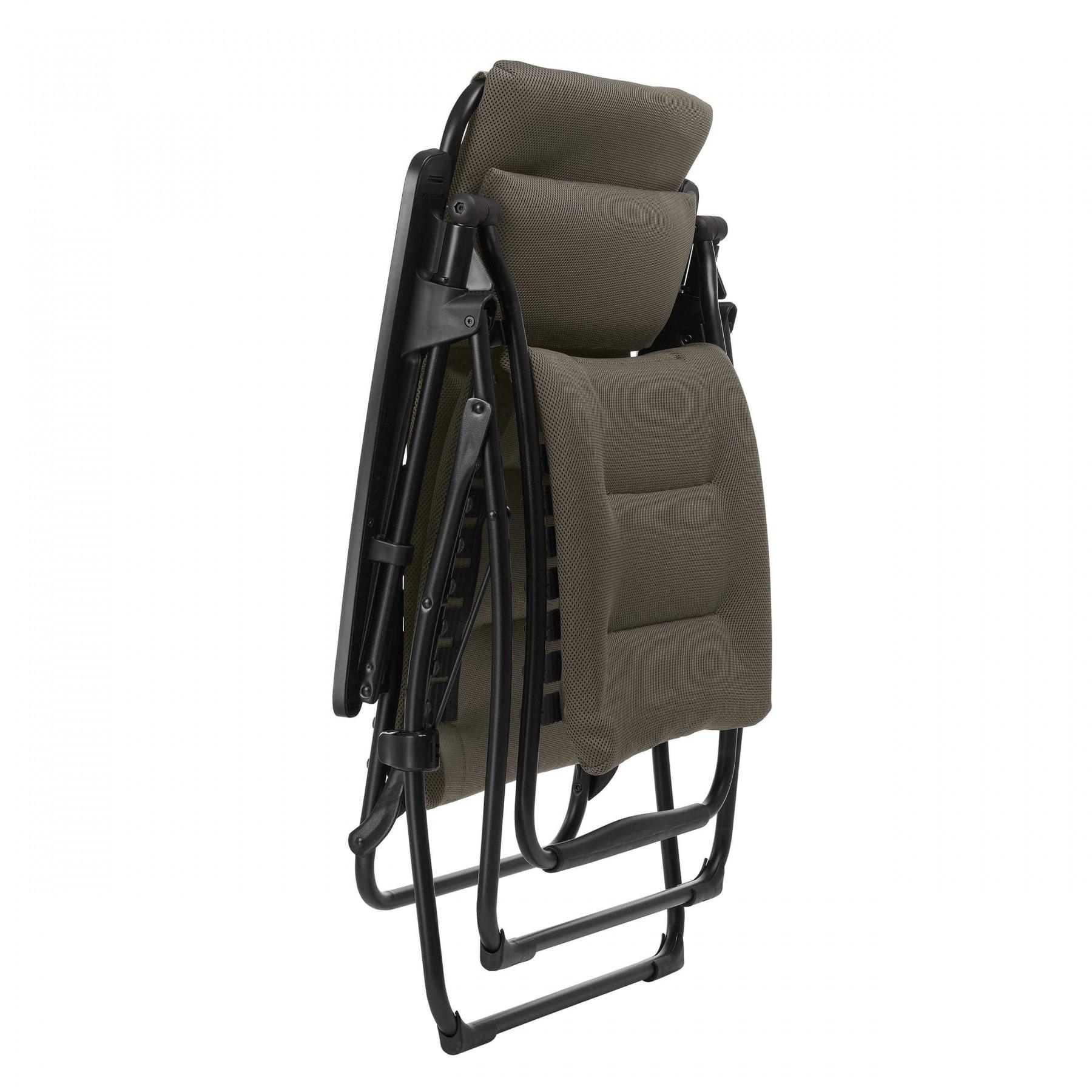 Fauteuil De Relaxation Futura Air Comfort Taupe | Lafuma ... tout Fauteuil Relax De Jardin Pas Cher