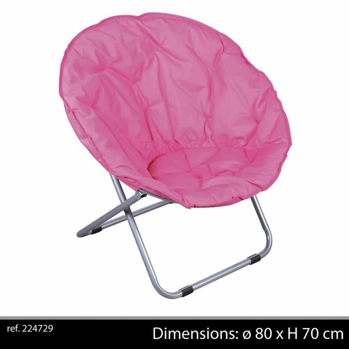Fauteuil Pliant Rose Fushia Loveuse Chaise Tissu Design Salon Camping intérieur Loveuse Jardin