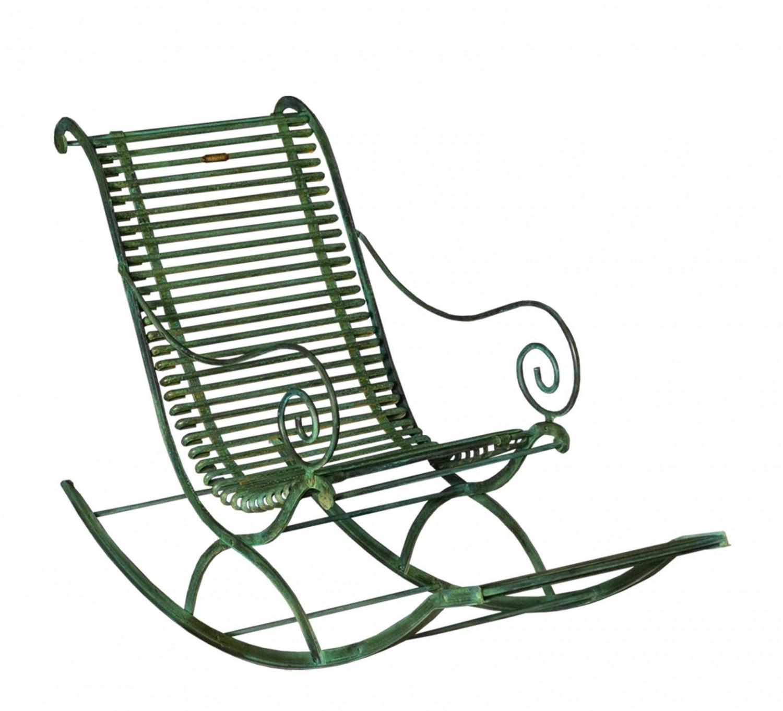 Fauteuil Rocking Chair De Jardin En Métal Fer Forgé Arras encequiconcerne Chaise En Fer Forgé De Jardin