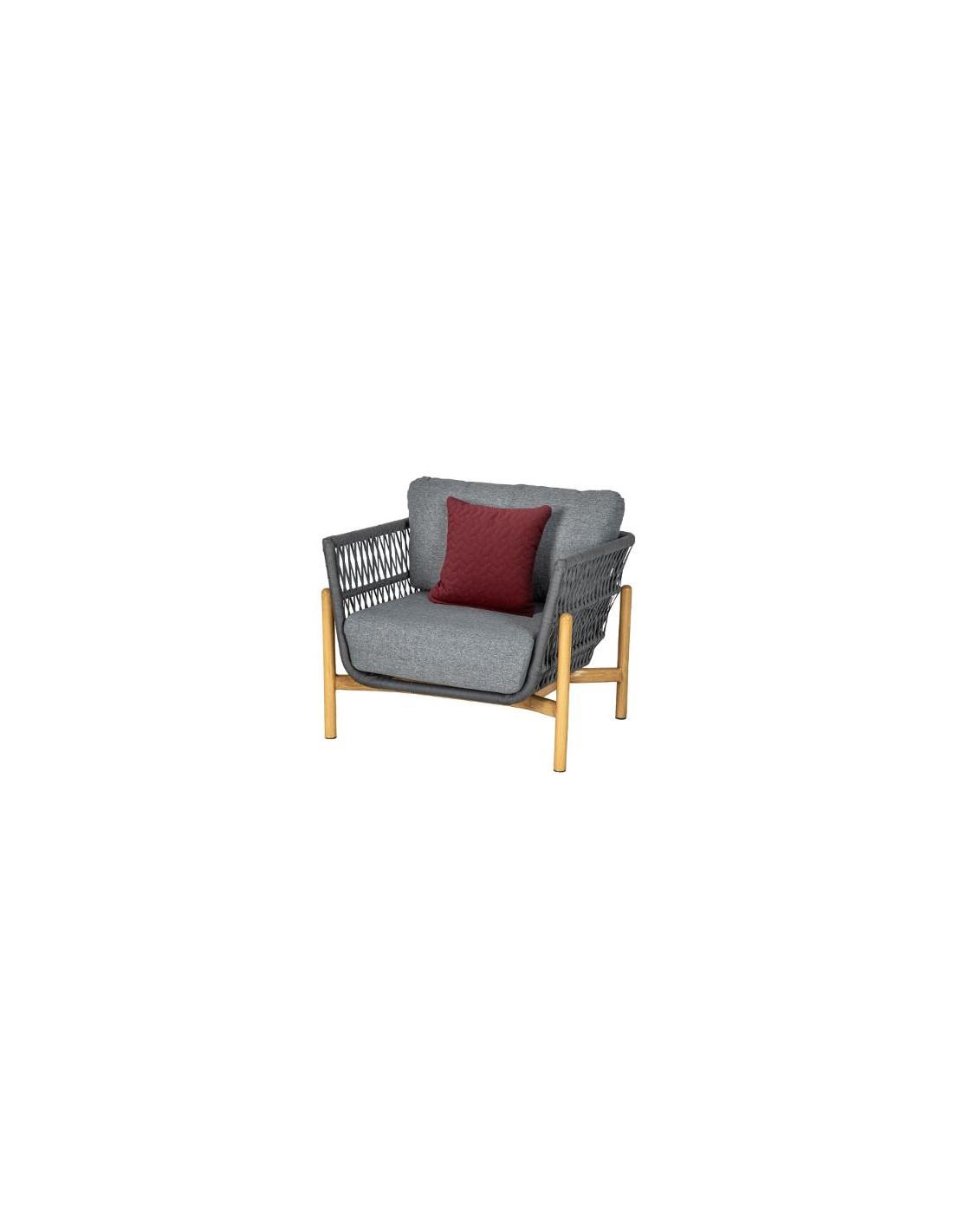 Fauteuil Rubby En Aluminium Et Maille Acrylique - Hesperide à Chaise De Jardin Hesperide