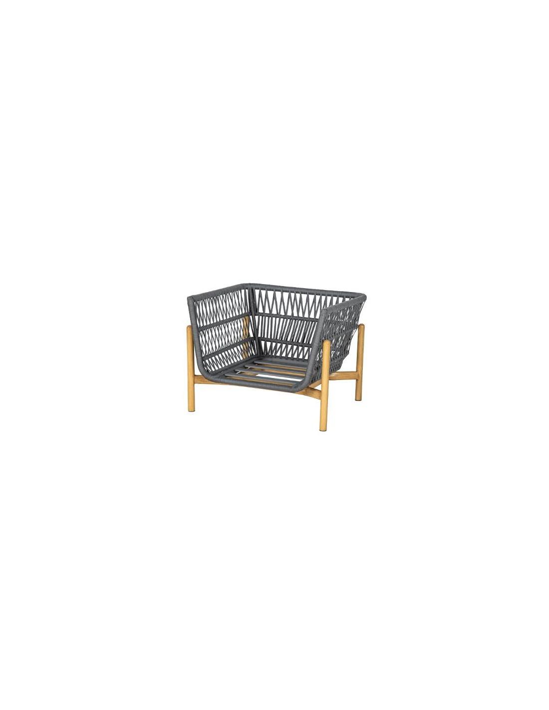Fauteuil Rubby En Aluminium Et Maille Acrylique - Hesperide concernant Chaise De Jardin Hesperide