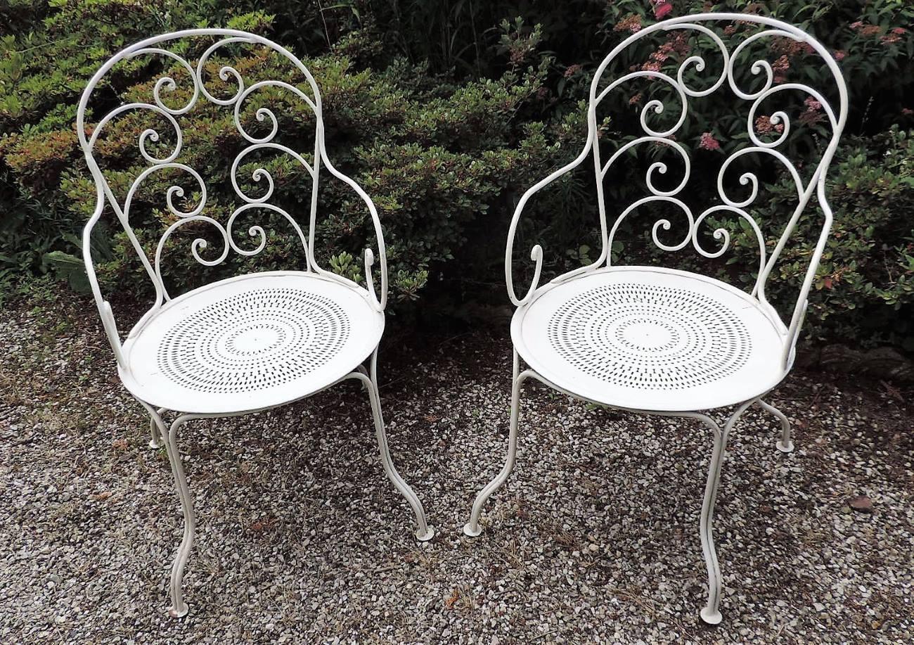 Fauteuils De Jardin En Fer Forgé | Brocanta pour Mobilier De Jardin Fer Forgé Ancien