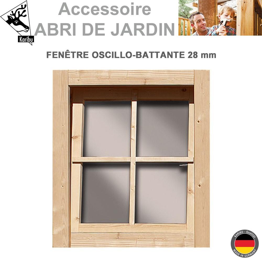 Fenêtre Oscillo Battante 28 Mm Pour Abri Bois tout Porte Pour Abri De Jardin