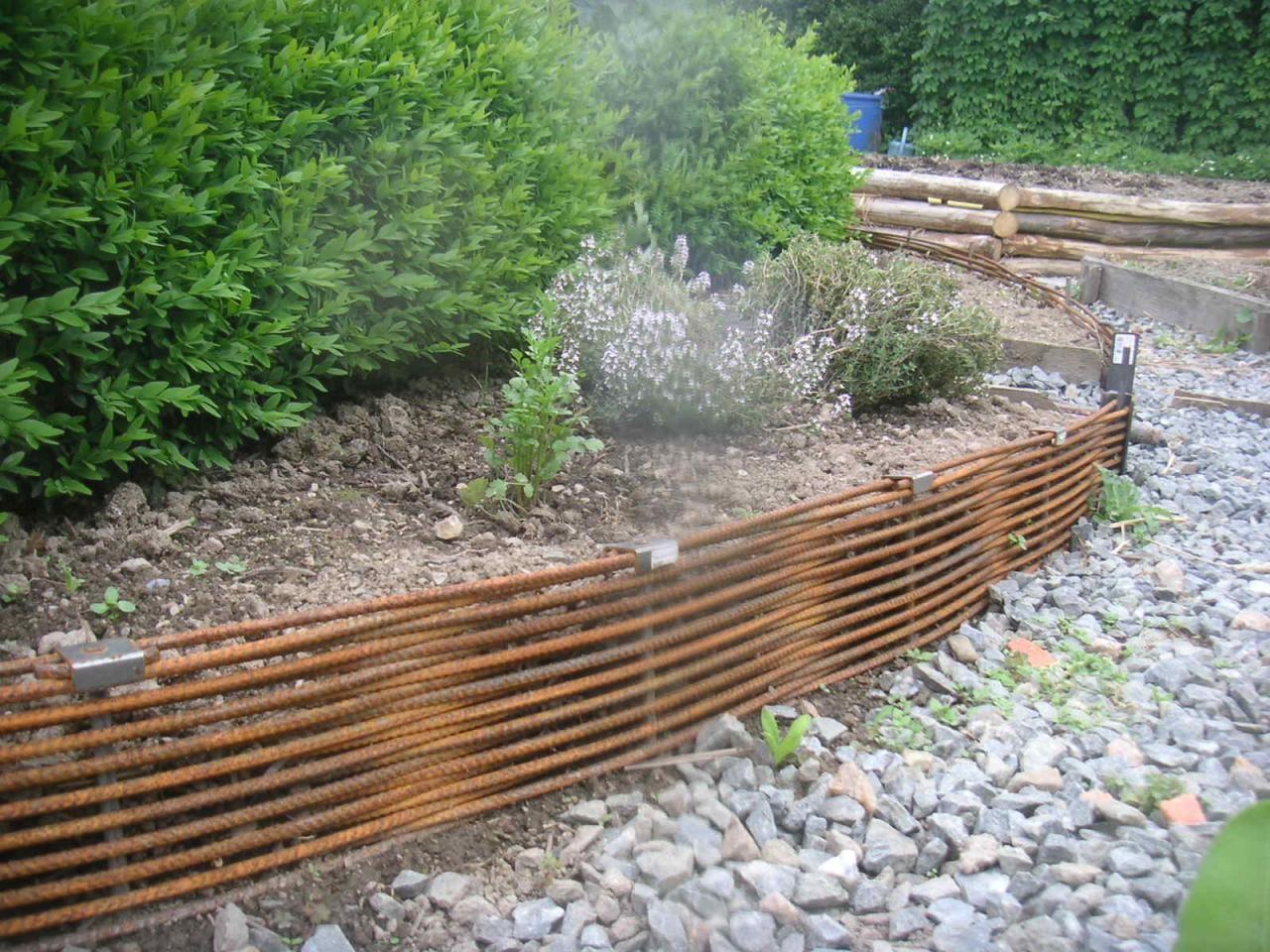 Fer À Béton Tressé.jpg | Amenagement Jardin, Aménagement ... encequiconcerne Bordure Jardin Zinc