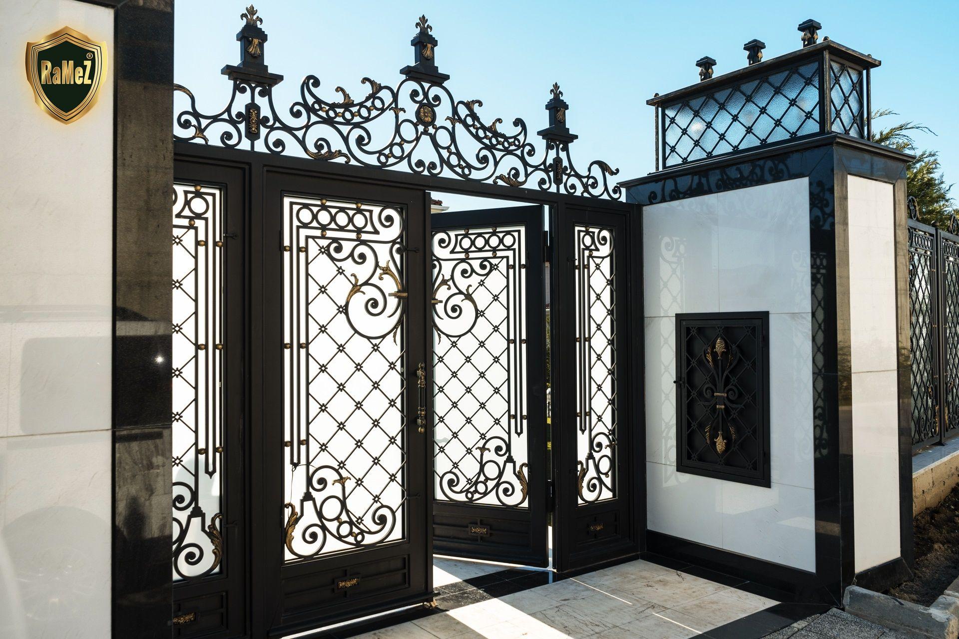 Ferforje Modellerimiz Wrought Iron Garden Gates, Ferforje ... tout Balustrade De Jardin