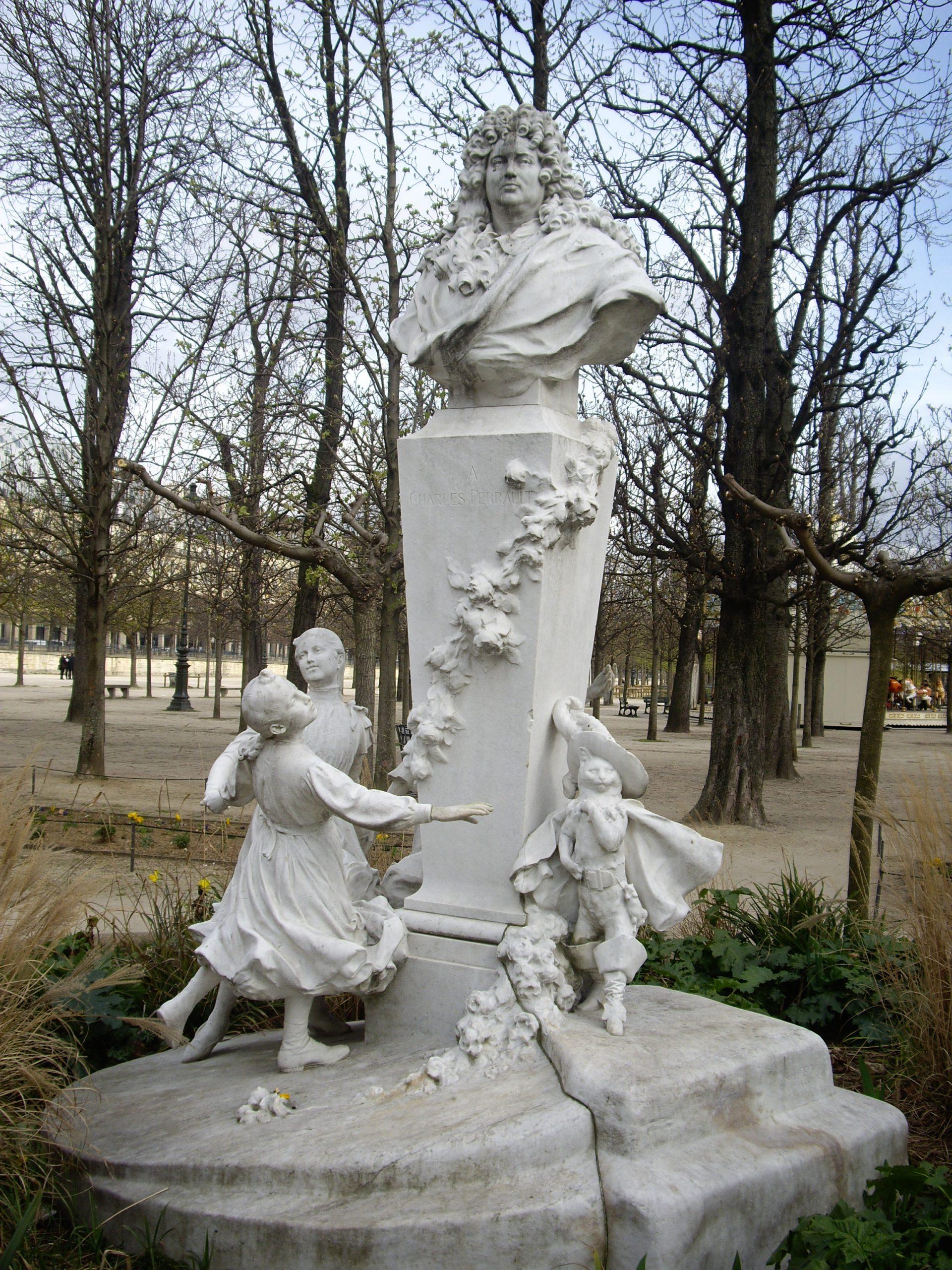 File:gabriel Pech, Monument À Charles Perrault - Le Chat ... concernant Botte De Jardin