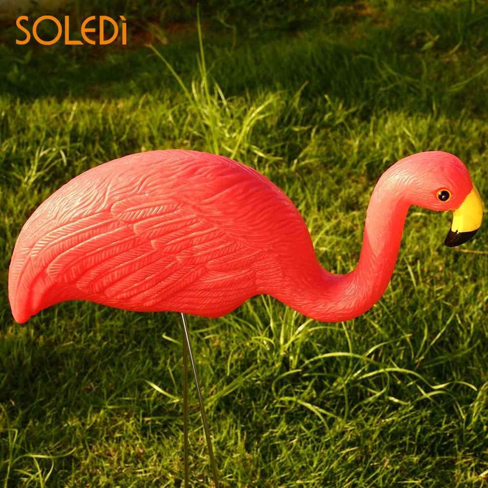 Flamingo Figürleri Flamingo Çim Dekorasyon Güzel Plastik Yapay Düğün Jardin  Bahçe Süsler Süs Damla Nakliye concernant Flamant Rose Jardin