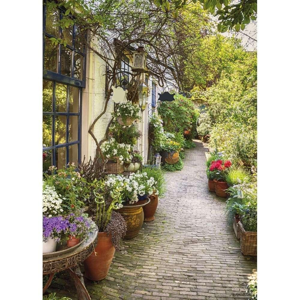 Flower Alley - Garden Decoration Painting serapportantà Trompe L Oeil Exterieur Jardin