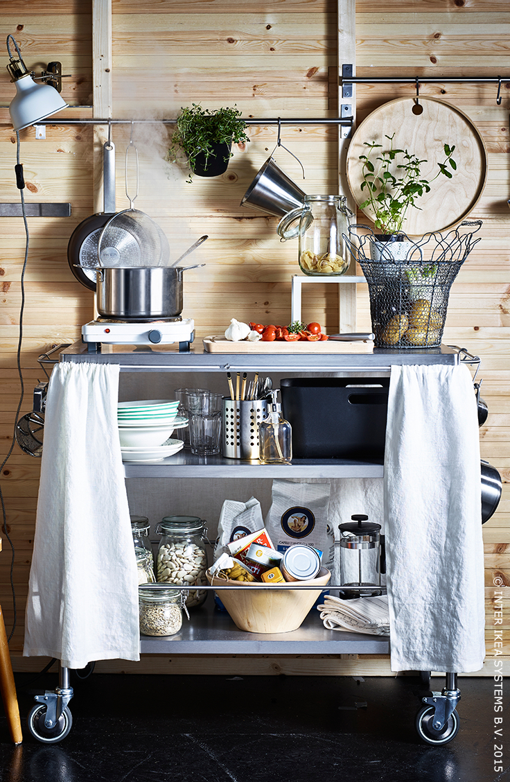 Flytta Desserte - Acier Inoxydable | C O Z Y Nest | Ikea ... intérieur Ikea Desserte Jardin