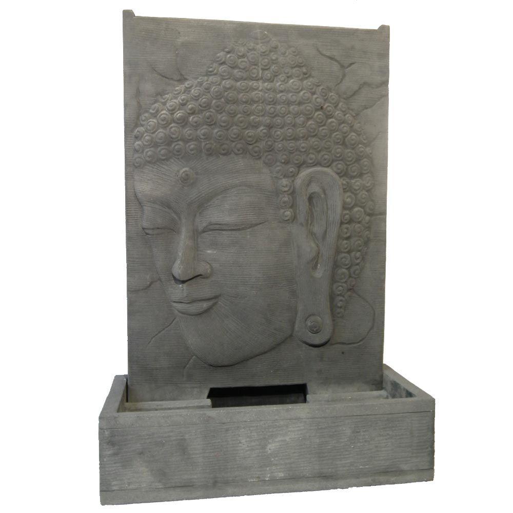 Fontaie De Jardin Bouddha Zen, Gris En Pierre Et Grc avec Fontaine De Jardin Bouddha