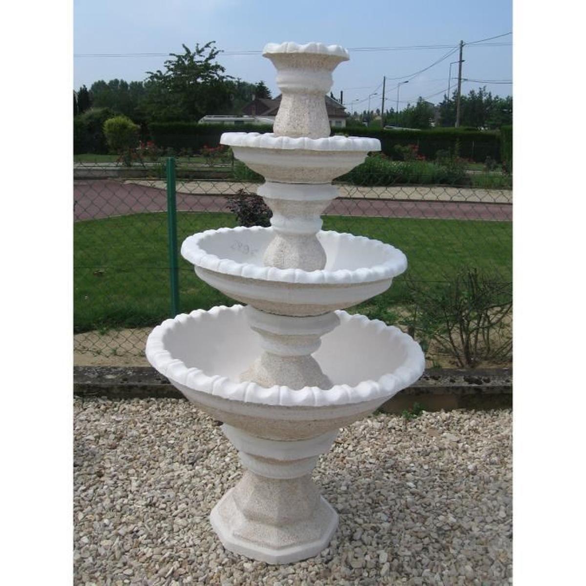 Fontaine 4 Étages - Achat / Vente Fontaine De Jardin ... destiné Vasque Jardin Pierre