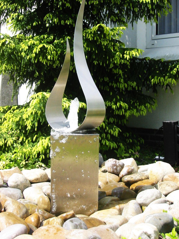Fontaine Acier | Fontaine De Jardin Moderne, Fontaine De ... avec Fontaine Exterieure De Jardin