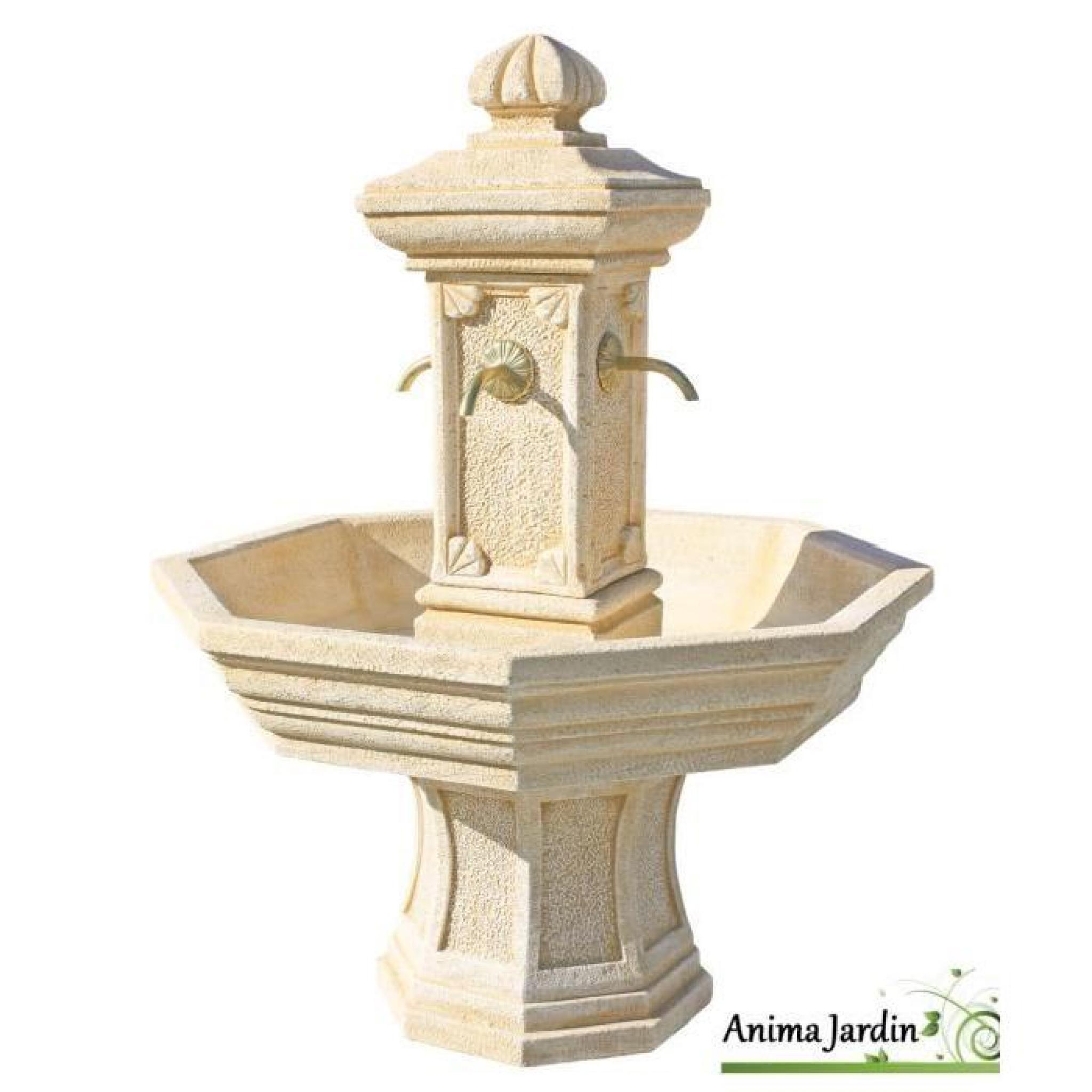 Fontaine Adonis Ocre En Pierre Reconstituée, H 155 concernant Fontaine De Jardin En Pierre Reconstituée