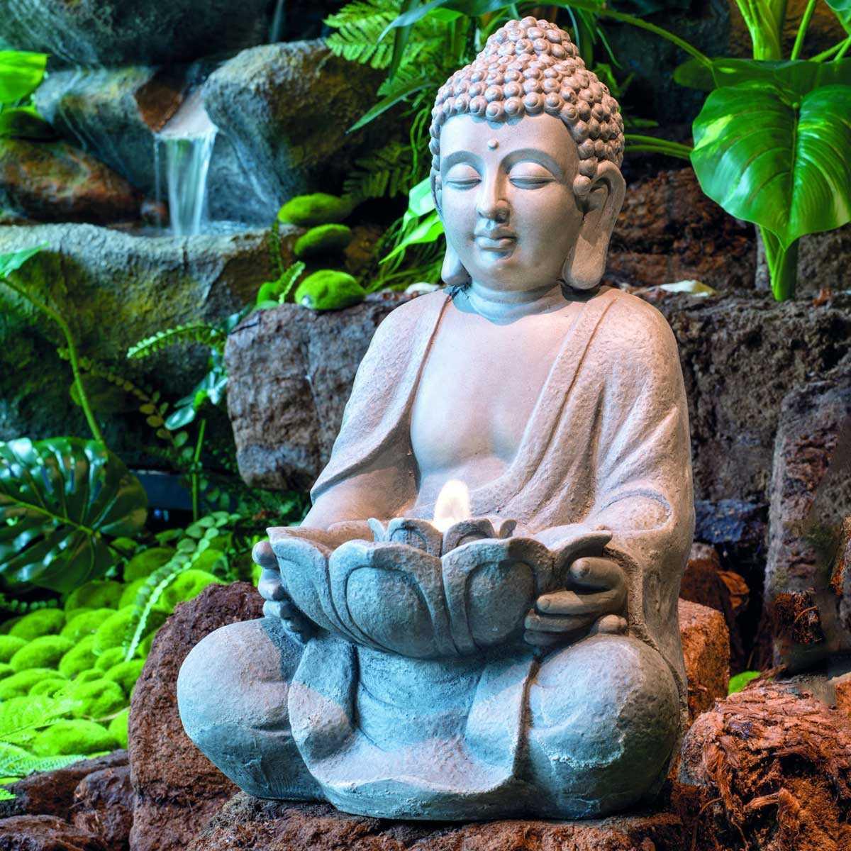 Fontaine Bouddha À Led Interieur Exterieur serapportantà Fontaine De Jardin Bouddha