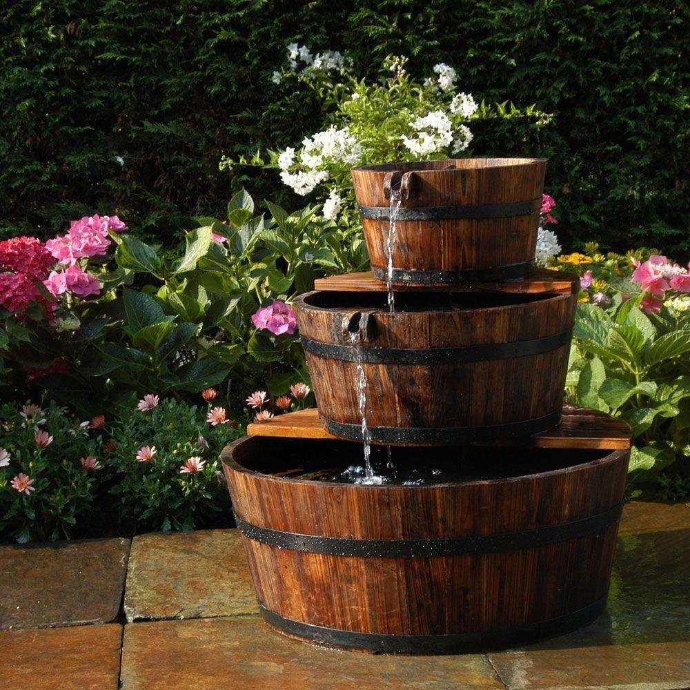 Fontaine De Jardin 3 Tonneaux En Cascade Edinburgh Ubbink ... serapportantà Vente Privée Jardin