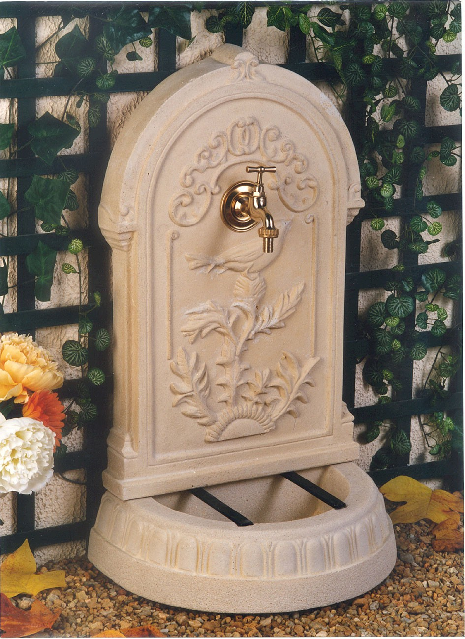 Fontaine De Jardin En Pierre Reconstituée Primevère 45 X 30 X 75 Cm à Fontaine De Jardin En Pierre Reconstituée