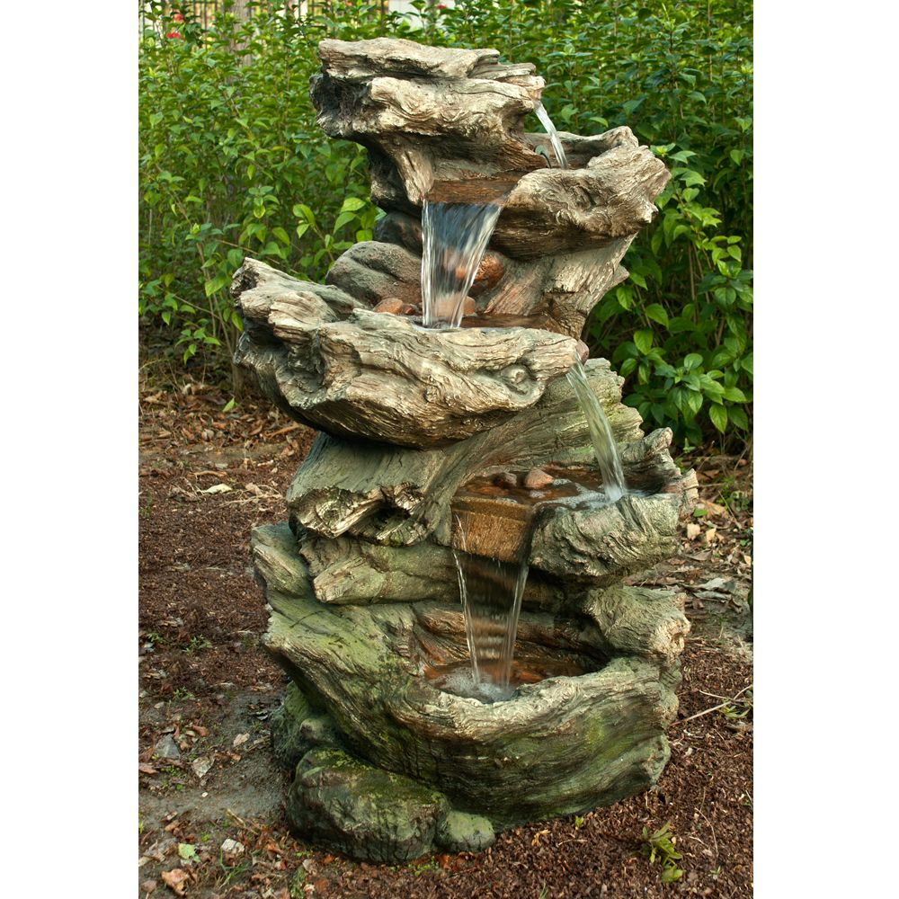 Fontaine De Jardin Norfolk H119 Cm Avec Éclairage Led serapportantà Fontaine De Jardin En Resine