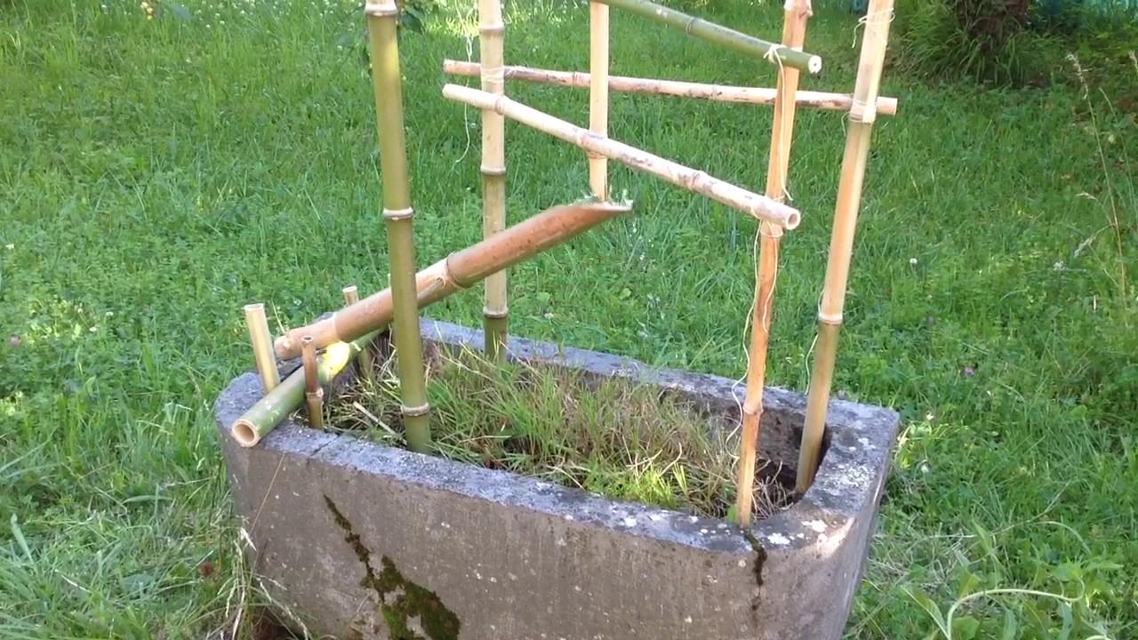 Fontaine En Bambou - Shishi Odoshi - dedans Fabriquer Une Fontaine De Jardin
