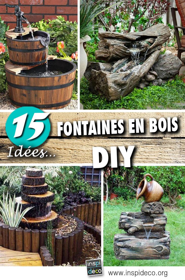 Fontaine En Bois: 15 Idées Pour Un Décor Aquatique Dans Le ... à Idee De Plantation Pour Jardin