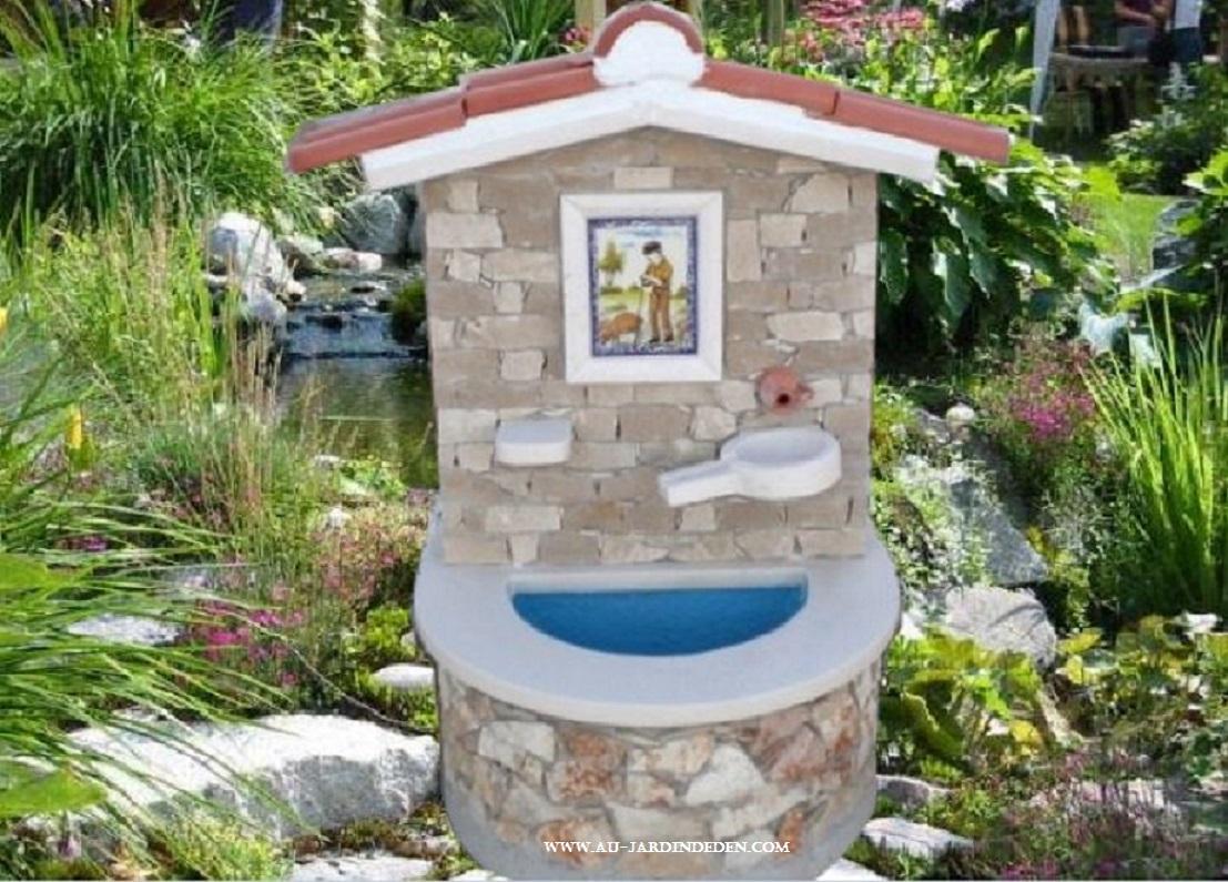 Fontaine En Pierre Naturelle 1047-A avec Fontaine Naturelle Jardin
