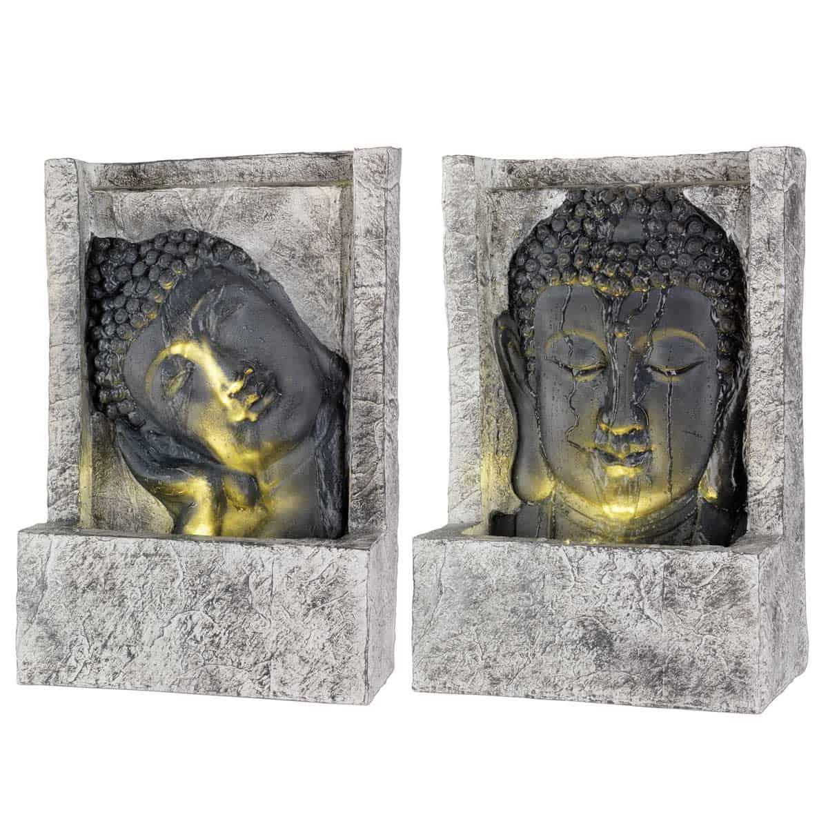 Fontaine Extérieure Lumineuse Bouddha dedans Jardin Zen Belgique