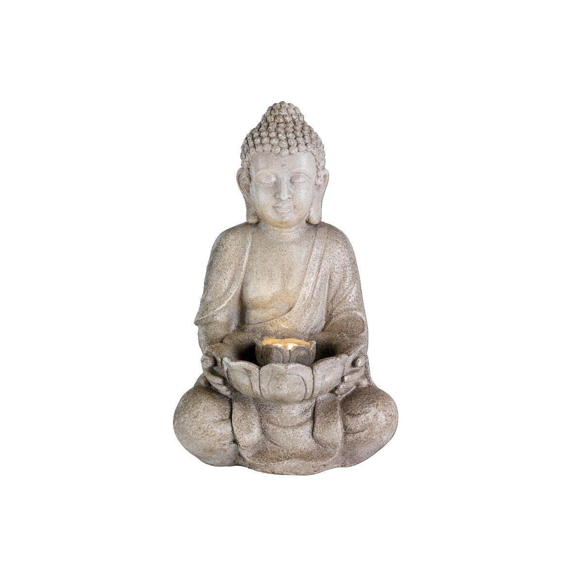Fontaine Extérieure Statue Bouddha Assis Avec Led ... à Fontaine De Jardin Bouddha