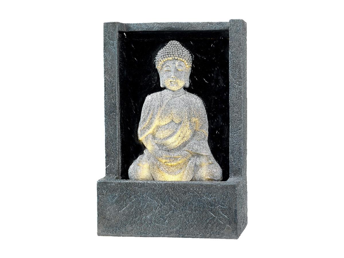 Fontaine Extérieure Statue Bouddha Assis Avec Led Dans Socle Effet Pierre -  Jardideco serapportantà Statue Bouddha Exterieur Pour Jardin